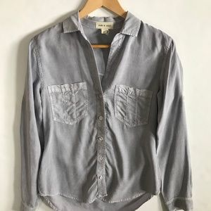 Cloth & Stone Gray Button Front XS